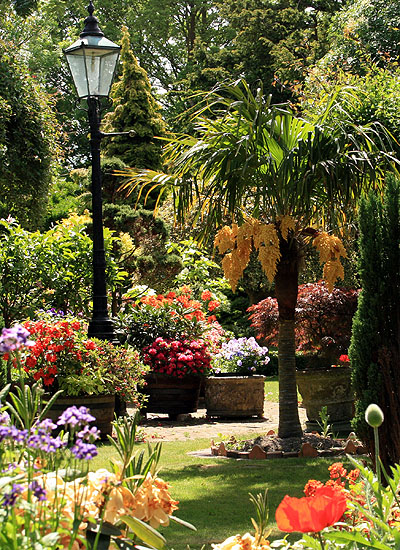 The Garden, Bed and Breakfast at Ocklynge Manor, Eastbourne. East Sussex.