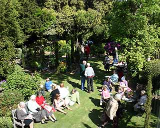 The National Garden Scheme Open Day, Bed and Breakfast at Ocklynge Manor, Eastbourne. East Sussex.